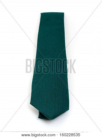Classic plain Emerald green highland wool tie