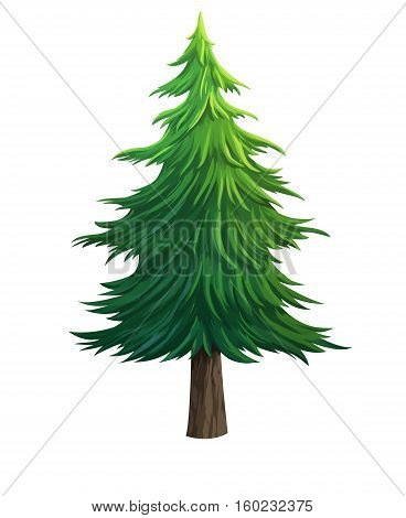 tree for cartoon isolated on white background