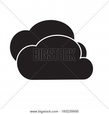 cloud icon on white background. cloud sign.