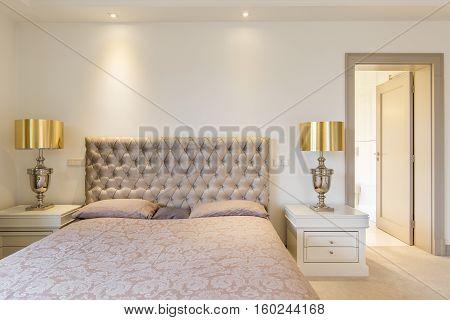 Elegant Master Bedroom With Bed