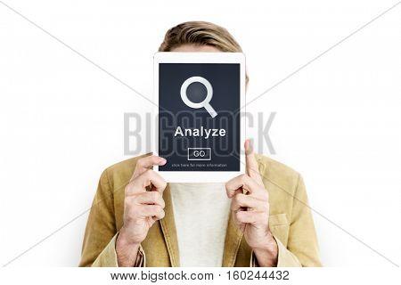 Analyze Work Business Strategy Concept