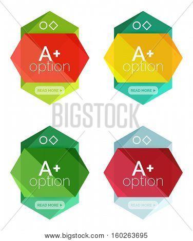 Set of vector option infographic geometric templates