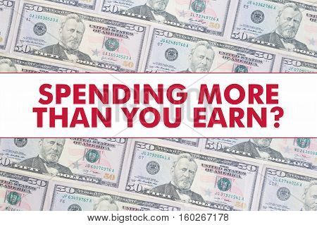 50 US Dollar Bill Background with the Message