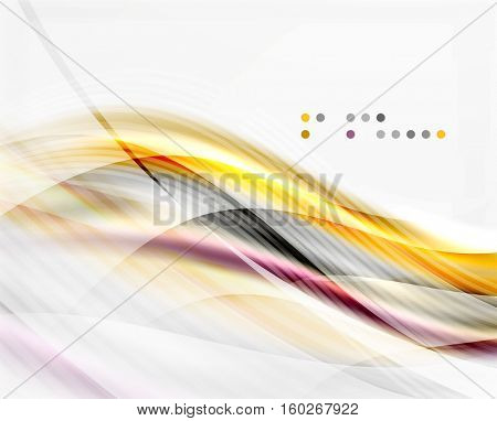 Vector shiny wave line abstract background