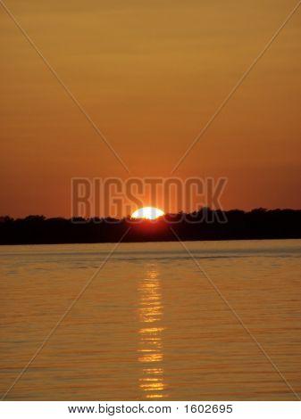 Vertical Orange Texas Sunset