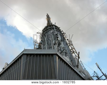 Antenna On Top Point Of Empire State Building