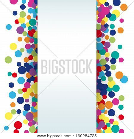 Colorful abstract spot background. illustration for bright design. Art splash backdrop. Modern pattern decoration. Color holiday wallpaper. Fun dot card. Happy mood style. Fiesta drop paint