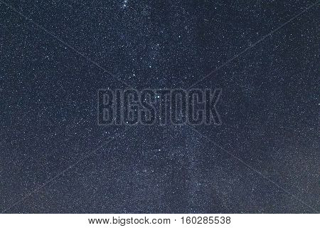 Blue Dark Night Sky With Many Stars. .constellations Cassiopeia