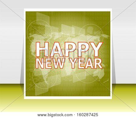 Happy New Year Postcard Ornament Decoration Background. Happy Holidays Wish
