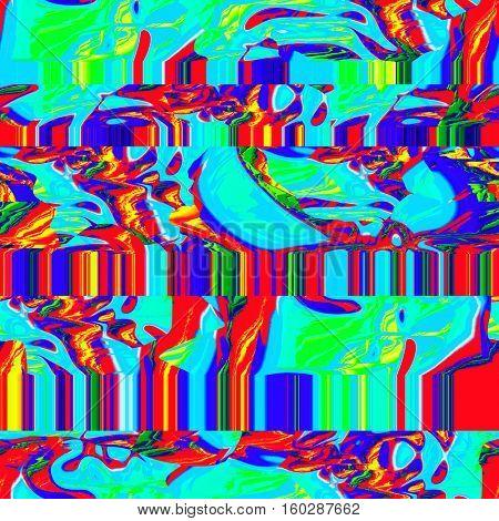 glitch seamless pattern
