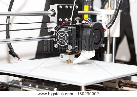 3d printer mechanism working element design of the device during the processes