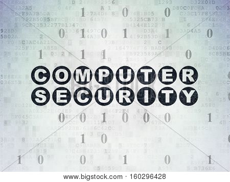 Security concept: Painted black text Computer Security on Digital Data Paper background with Binary Code