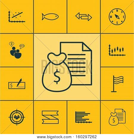 Set Of 12 Universal Editable Icons. Can Be Used For Web, Mobile And App Design. Includes Elements Such As Analytics, Bank Payment, Locate And More.