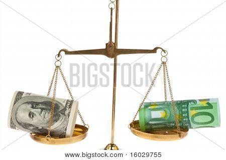 Euro-bankbiljetten en -dollar