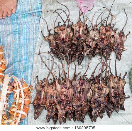 Roasted Rats On  Market