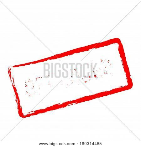 Offender Red Rubber Stamp Isolated On White Background. Grunge Rectangular Seal With Text, Ink Textu