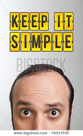 "Man With ""keep It Smile"" Mark Over His Head"