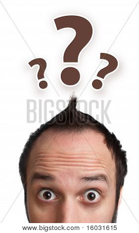 Male Adult Has Way Too Many Questions In His Head