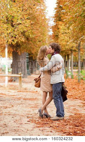 Romantic Couple Having A Date In The Tuilleries Garden Of Paris