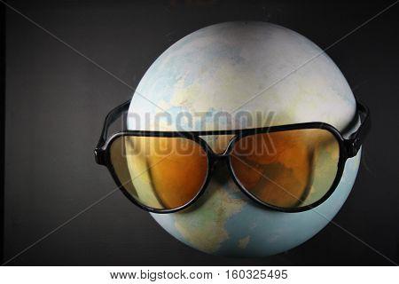 global, mundo, planeta, viaje, relax, tierra, vida, lentes, gafas