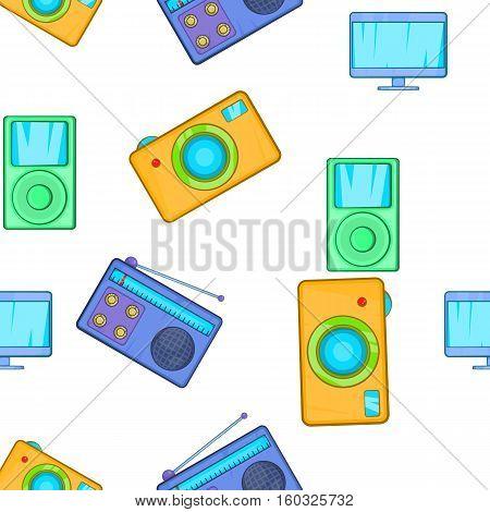 Electronic gadget pattern. Cartoon illustration of electronic gadget vector pattern for web