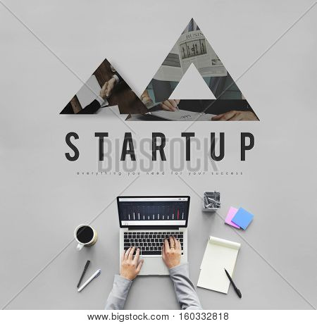 Triangle shaped abstract design business concept