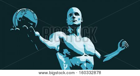 Global Marketing and Medical Abstract Background Art 3d Illustration Render
