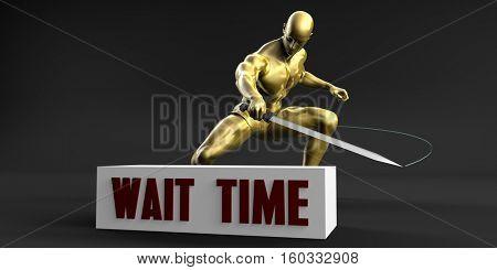 Reduce Wait Time and Minimize Business Concept 3d Illustration Render
