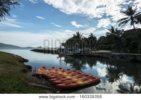 Koh Chang, Thailand - December 1, 2016: Koh Chang Island, Klong Prao Beach in Trat Province