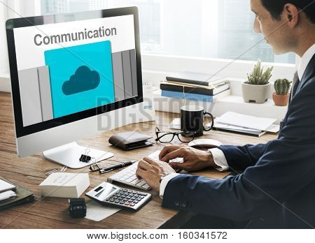 Communication Connection Cloud Network Concept