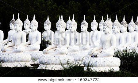 The Stone Statue Of A Buddha At Sa Kaeo; Thailand.
