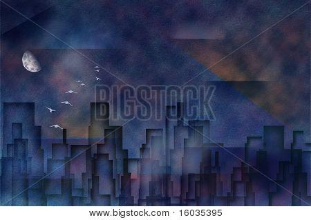 Cityscape pastel