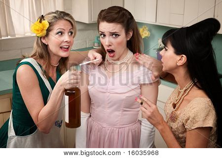 Woman Under Pressure To Smoke And Drink