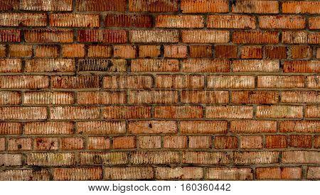 Brickwork. Grunge brick wall. Rough brick wall. Grunge brick background