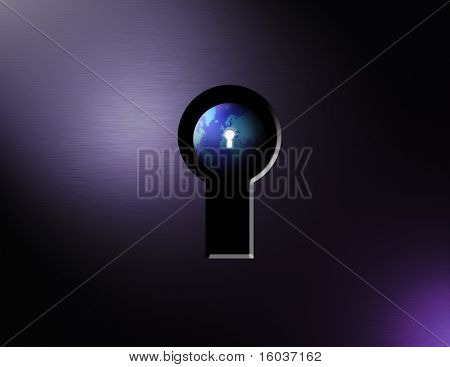The earth thru a keyhole