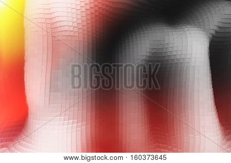 Extruded black and white cave with light leak illustration background hd