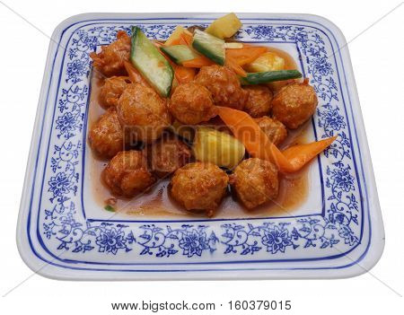 Sweet And Sour Chicken Meatballs With Pineapple