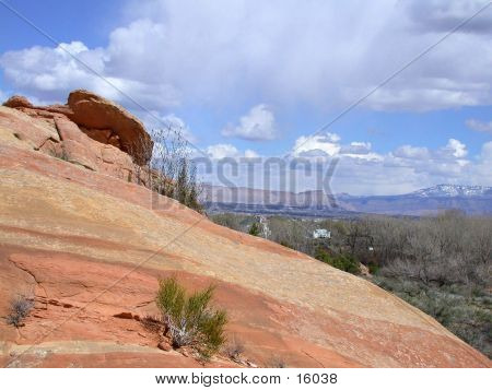 Slick Rock In The Foreground