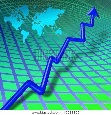 World business bar chart