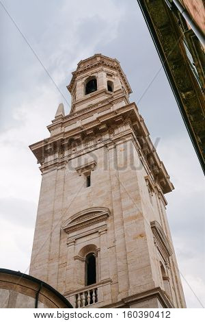 Sanmicheli's Bell Tower Of Verona Cathedral