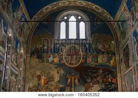 Interior Of Scrovegni Chapel In Padua City