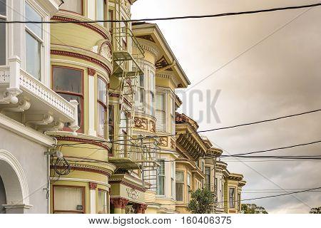 Buildings in Haight Ashbury in San Francisco