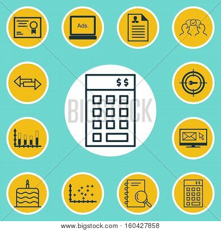 Set Of 12 Universal Editable Icons. Can Be Used For Web, Mobile And App Design. Includes Elements Such As Crossroad, Segmented Bar Graph, Plot Diagram And More.