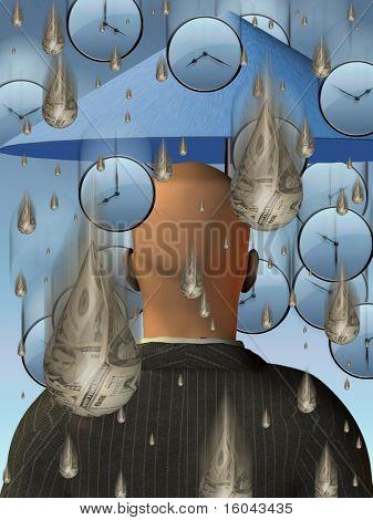 Time Money Rainstorm