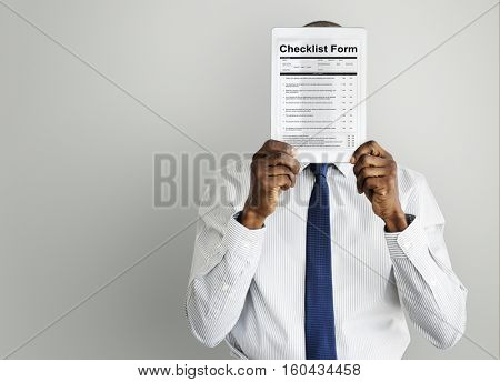Checklist Form Document Questions Concept