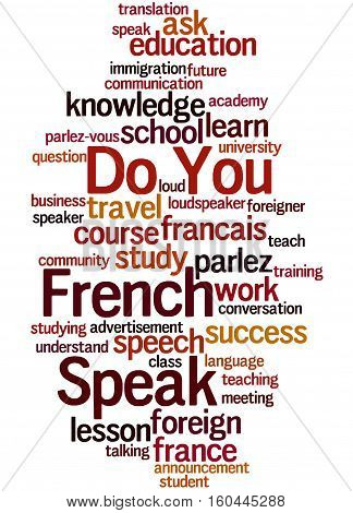 Do You Speak French, Word Cloud Concept