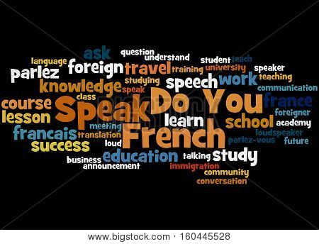 Do You Speak French, Word Cloud Concept 2