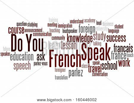 Do You Speak French, Word Cloud Concept 4