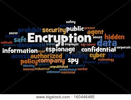 Encryption, Word Cloud Concept 2
