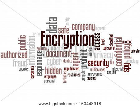 Encryption, Word Cloud Concept 6